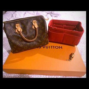 Authentic Louis Vuitton Speedy, lock key & Insert